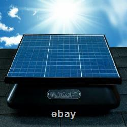 Heavy Duty Adjustable Energy Saving 40W Solar & Electric Roof Mount Attic Fan