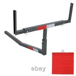 Heavy Duty Adjustable Hitch Mount Truck Bed Extender 750LBS with Ratchet Straps