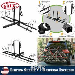 Heavy Duty Bike Rack Carrier Mount Hitch Folding Padded Truck SUV Steel Mount
