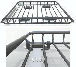 Heavy Duty Roof Rack Cargo Carrier Universal Mount Basket Storage Luggage Holder