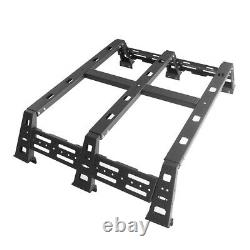 Heavy Duty Steel High Bed Rack with Backup Tire Mount fit 2007-2013 Toyota Tundra