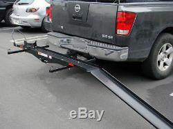 Heavy Duty Tow Hitch Mounted Steel Motorcycle Carrier Rack 600lbs