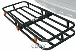 Heavy duty Hitch Mount Cargo Carrier Rack EXTENSION Basket Luggage Holder 500lbs
