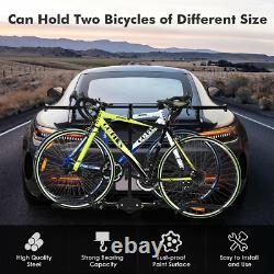 Hitch Mount Carrier Platform Rack 2 Bike Bicycle 2 inch Car Truck SUV Heavy Duty