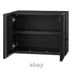 Husky Regular Duty Welded (24x18x12 in.) Black Steel Wall Mounted Garage Cabinet