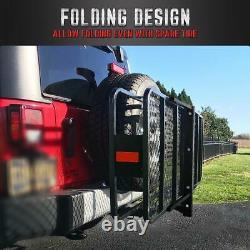 KingBird Folding Holder Hitch-Mount Cargo Carrier Heavy Duty Basket Luggage Rack