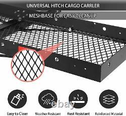 Koreyosh Hitch Cargo Carrier Folding Cargo Rack Hitch Mount Cargo Heavy Duty New