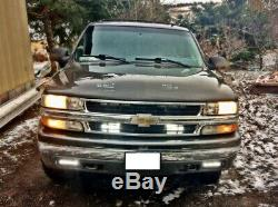 LED Light Bar with Foglamp Location Bracket Wiring For Chevy 1500 2500 3500 Tahoe