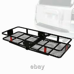 Lifedeco Hitch Mounted Folding Cargo Carrier Basket Luggage Rack Heavy Duty Car