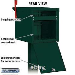 Locking Mailbox Security Post Mount Secure Box Green Heavy-duty Aluminum X-Large