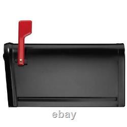 Locking Secure Mailbox 11.2 in x 11.4 in Steel Heavy Duty Keyed Post Mount Box