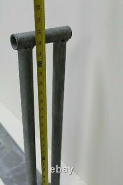 Madrax Galvanized Steel Bike Rack Floor Mount Commercial Grade Heavy Duty