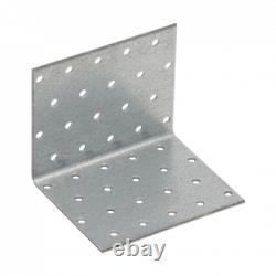 Metal Corner Brackets Steel Angle Braces HEAVY DUTY Mounting Galvanized KM