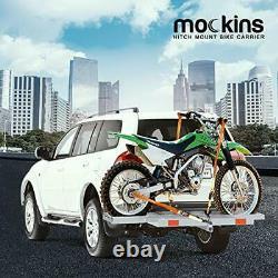 Mockins Gray Hitch Mounted Motorcycle Carrier The Heavy Duty Steel Dirt Bike