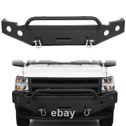 NEW Front Black Bumper 3-Piece Module Style For 2007-2013 Chevy Silverado 1500