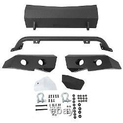 NEW Front Black Bumper For 2007-2013 Chevy Silverado 1500 3-Piece Module Style
