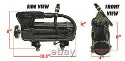 NEW airmaxxx X-Series Air Ride Compressor 100 Duty @ 200PSI 2.2CFM Stealth Black