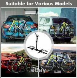 New Heavy Duty 2 Bike Car Truck SUV 2 Hitch Mount Carrier Platform Bicycle Rack