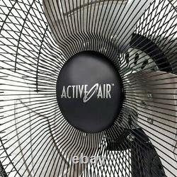 Oscillating Wall Mount Fan 16in Metal Steel Frame Quiet Air Cooling Heavy Duty