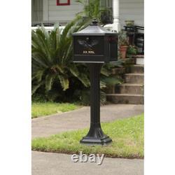 Post Lock Vintage Mailbox Office Combo Heavy Duty Large Mount Corbin Brass Black
