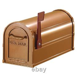 Post Mount Mailbox Antique Rural Heavy Duty Rust and Impact Resistant Copper