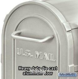 Post Mount Mailbox Rural Antique, Heavy-Duty Aluminum, 7.5 x 9.5 x 20.5, White