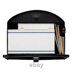 Post Mount Mailbox Storehouse Extra Large Heavy-duty Galvanized Steel Home Black