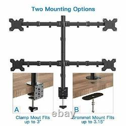 Quad Computer Monitor Mount Heavy Duty LCD Computer 4 Monitor Stand with