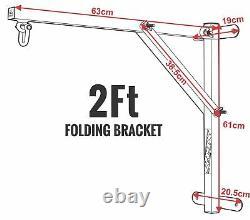RDX Heavy Duty 2ft Folding Punch Bag Wall Bracket Steel Mount Hanging MMA Boxing