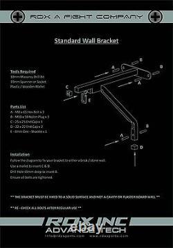 RDX Punching Bag Bracket Wall Chains Swivel Steel Mount Heavy Duty Punch Boxing