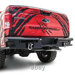 Raptor X Style Rear Bumper+Step with TWIN LED Taillight bar fit 15-17 Ford F150