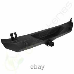 Rear Bumper with Tire Carrier & D-ring for Jeep Wrangler 07-18 JK guard winch