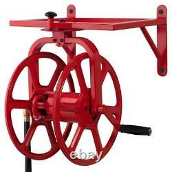 Revolution Industrial Grade Rotating Garden Hose Holder Reel Heavy Duty Mounted