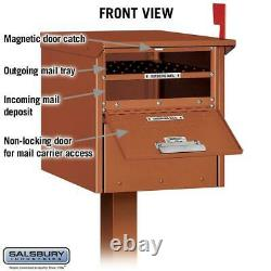 Roadside Mailbox Post Mount Mailbox Heavy-Duty Aluminum Extra Large C1 Copper