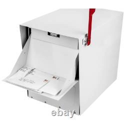 Steel Lockable Post Mailbox Mount Parcel Classic Locking Heavy Duty X-Large