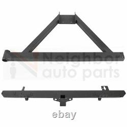 Steel Rear Bumper withHitch Receiver Spare Tire Rack for 87-06 Jeep Wrangler YJ TJ