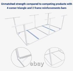 Storage Rack Garage Overhead Ceiling Adjustable 4x8 Ft Heavy Duty Mounts NEW