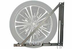 Tire Rack Foldable Wheel Storage Holder Heavy Duty Garage Wall Mount Steel 300Lb