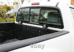Trunk Bed Rail Mount 20W LED Pod Light Kit For Toyota Tundra Tacoma Nissan Titan