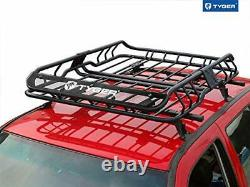 Tyger Heavy Duty Roof Mounted Cargo Basket Rack L47.25 x W36.6 x H5.9 Roo