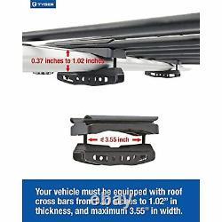 Tyger Heavy Duty Roof Mounted Cargo Basket Rack L47.25 x W36.6 x H5.9 Roof