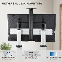 Ultra Heavy Duty Mobile Stand TV Cart Mount Fits 60 to 100 Flat Screens