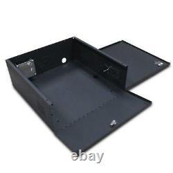 Wall Floor Mount Heavy Duty 16 Gauge Steel NVR DVR CCTV Security Lockbox 21x21x8