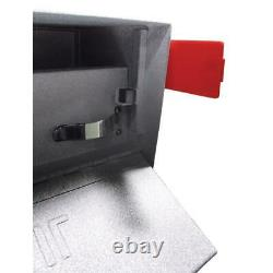 Wall-Mount Mailbox High Security Locking Large Heavy Duty Steel Granite Gray