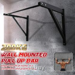 Wall Mounted Chin Pull Up Bar Heavy Duty Upper Gym Workout Home Trainin