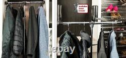 Wardrobe Lift Side-mount Chrome and Black Expanding Heavy duty steel Tubing