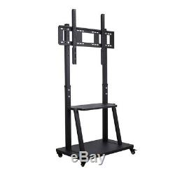 XL Large Floor TV Stand Mount Ultra Heavy Duty Steel Mobile TV Cart for 37 -100
