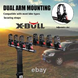 X-BULL 4-Bike Carrier Rack Hitch Mount Heavy Duty Bicycle Rack 2 Receiver SUV