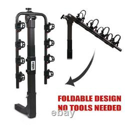 X-BULL 4-Bike Carrier Rack Hitch Mount Heavy Duty Bicycle Rack With 2 Receiver