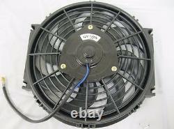 10 Ventilateur De Refroidissement À Radiateur S-blade Courbé Électrique Robuste Avec Kit De Montage